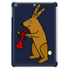 Funny Brown Rabbit Playing Trumpet Art Tablet