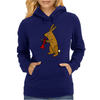 Funny Brown Rabbit Playing Trumpet Art Womens Hoodie
