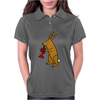 Funny Brown Rabbit Playing Trumpet Art Womens Polo