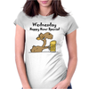 Funny Camel Drinking Beer Cartoon Womens Fitted T-Shirt