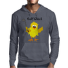 Funny Chick with Golf Club Mens Hoodie
