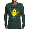 Funny Chick with Golf Club Mens Long Sleeve T-Shirt