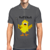 Funny Chick with Golf Club Mens Polo