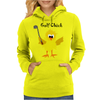 Funny Chick with Golf Club Womens Hoodie