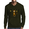 Funny Chinese Zodiac Monkey and Stars Mens Hoodie
