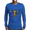 Funny Chinese Zodiac Monkey and Stars Mens Long Sleeve T-Shirt