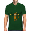 Funny Chinese Zodiac Monkey and Stars Mens Polo