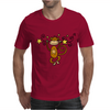 Funny Chinese Zodiac Monkey and Stars Mens T-Shirt