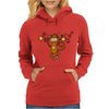 Funny Chinese Zodiac Monkey and Stars Womens Hoodie