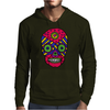 Funny Colorful Gothic Skull Original Art Design Mens Hoodie