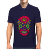 Funny Colorful Gothic Skull Original Art Design Mens Polo
