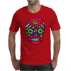 Funny Colorful Gothic Skull Original Art Design Mens T-Shirt
