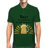 Funny Cool Beer is not Just for Breakfast Anymore Art Mens Polo