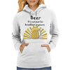 Funny Cool Beer is not Just for Breakfast Anymore Art Womens Hoodie