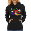 Funny Cow Jumping Over Moon Womens Hoodie