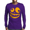 Funny Crazy Monster Face Mens Long Sleeve T-Shirt