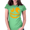 Funny Crazy Monster Face Womens Fitted T-Shirt