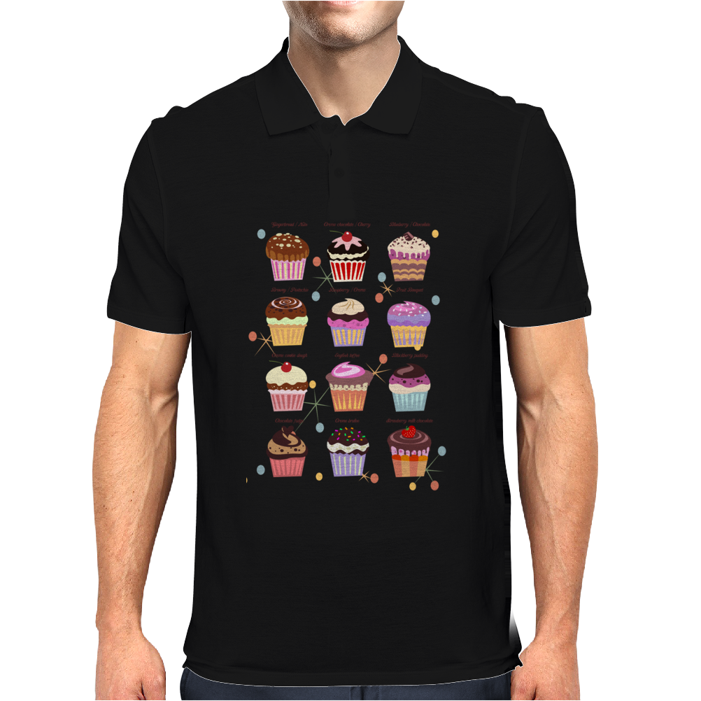 Funny cupcakes Mens Polo