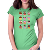 Funny cupcakes Womens Fitted T-Shirt