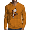 Funny Cute Basset Hound Puppy Dog Playing the Saxophone Mens Hoodie