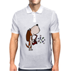 Funny Cute Basset Hound Puppy Dog Playing the Saxophone Mens Polo