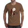 Funny Cute Basset Hound Puppy Dog Playing the Saxophone Mens T-Shirt
