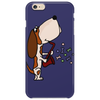 Funny Cute Basset Hound Puppy Dog Playing the Saxophone Phone Case