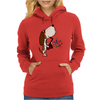 Funny Cute Basset Hound Puppy Dog Playing the Saxophone Womens Hoodie