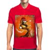 Funny cute christmas giraffe Mens Polo