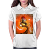 Funny cute christmas giraffe Womens Polo