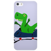 Funny Cute Green T-Rex Dinosaur Riding a Roller Coaster Art Phone Case