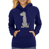 Funny Cute Irish Wolfhound Dog Art Womens Hoodie