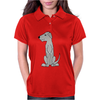 Funny Cute Irish Wolfhound Dog Art Womens Polo