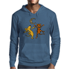 Funny Dancing in the Moonlight Dog and Cat Mens Hoodie