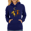 Funny Dancing in the Moonlight Dog and Cat Womens Hoodie
