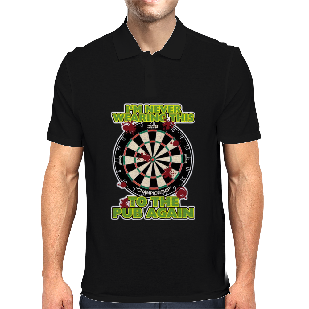 Funny Darts I'm Never Wearing, Ideal Gift or Birthday Present. Mens Polo
