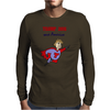 Funny Donald Trump Super Hero Mens Long Sleeve T-Shirt