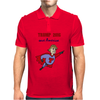 Funny Donald Trump Super Hero Mens Polo