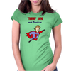 Funny Donald Trump Super Hero Womens Fitted T-Shirt