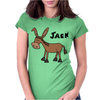 Funny Donkey Named Jack Womens Fitted T-Shirt