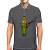 Funny Ear of Corn Playing Fiddle Mens Polo