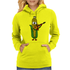Funny Ear of Corn Playing Fiddle Womens Hoodie