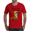 Funny Eat a Beaver Cartoon Mens T-Shirt