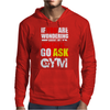 Funny fitness design. Mens Hoodie