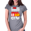 Funny fitness design. Womens Fitted T-Shirt