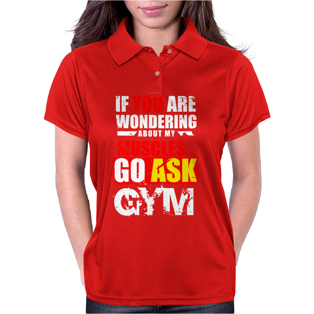 Funny fitness design. Womens Polo