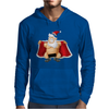 Funny Flashing Naked Nude Christmas Santa Claus Mens Hoodie