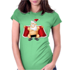 Funny Flashing Naked Nude Christmas Santa Claus Womens Fitted T-Shirt