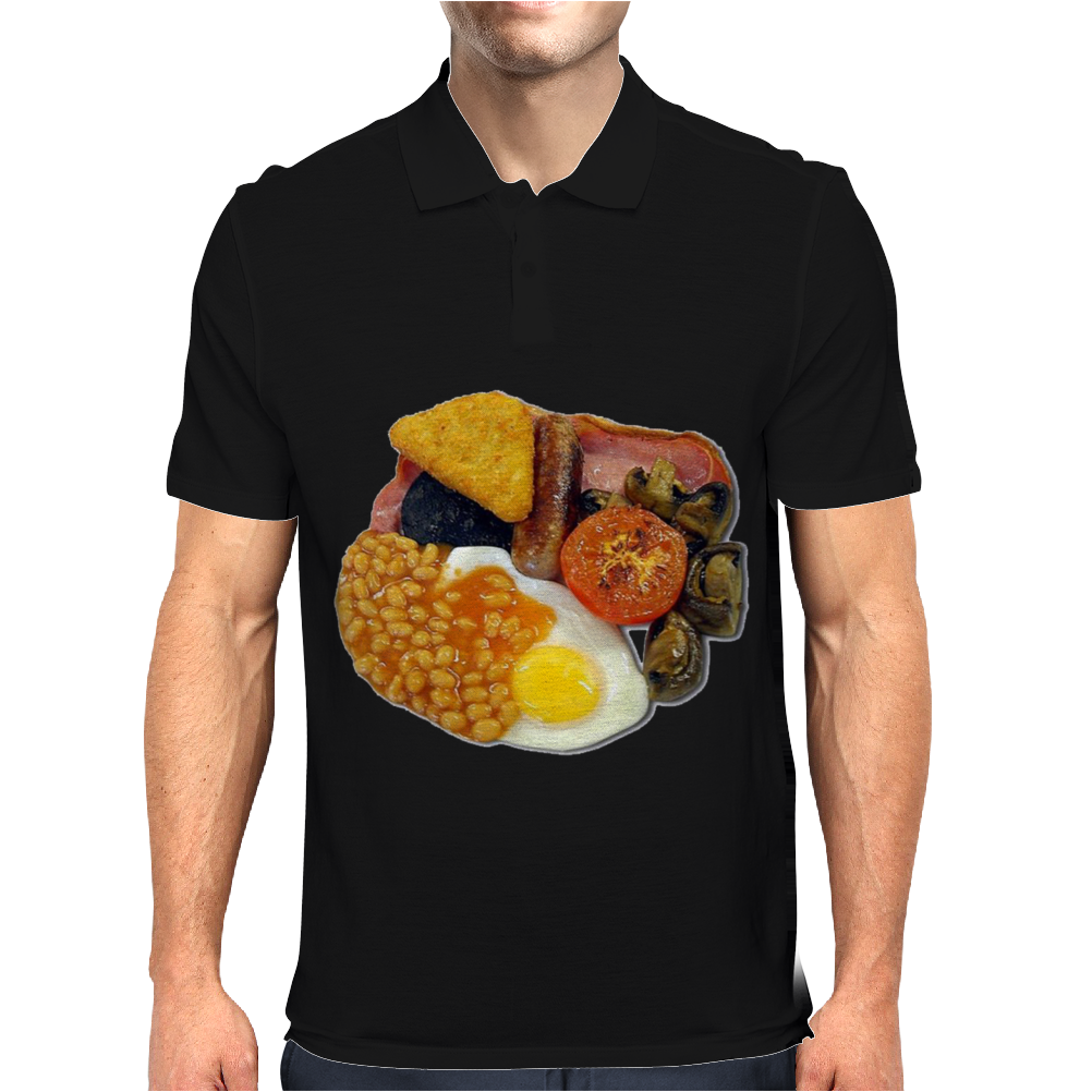 funny Full English Breakfast, Ideal Gift Or Birthday Present Mens Polo