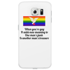 FUNNY FUN SMILE WHEN YOU'RE GAY IT ADDS NEW MEANING TO ONE MANS JUNK IS ANOTHER MANS TREASURE Phone Case